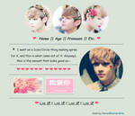 [F2U] Hearts| BTS V [Non-Core Page Code] by HorseWarriorArts