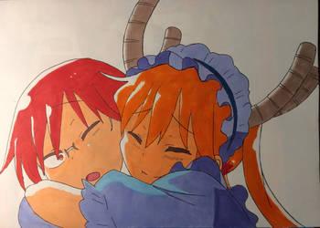 Tohru and kobayashi by svenfb