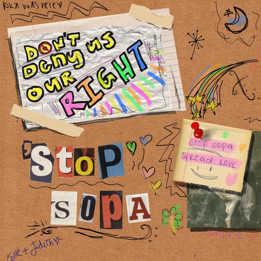 STOP SOPA by CheskaCityLove