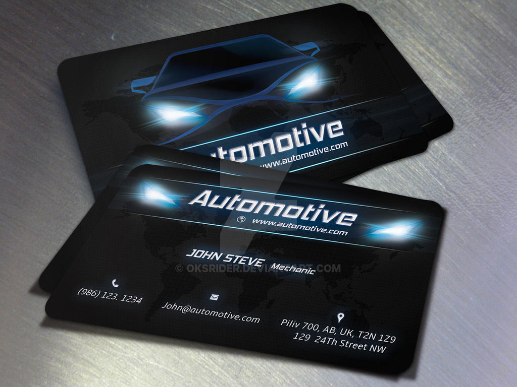 Automotive business card by oksrider on deviantart automotive business card by oksrider reheart Images