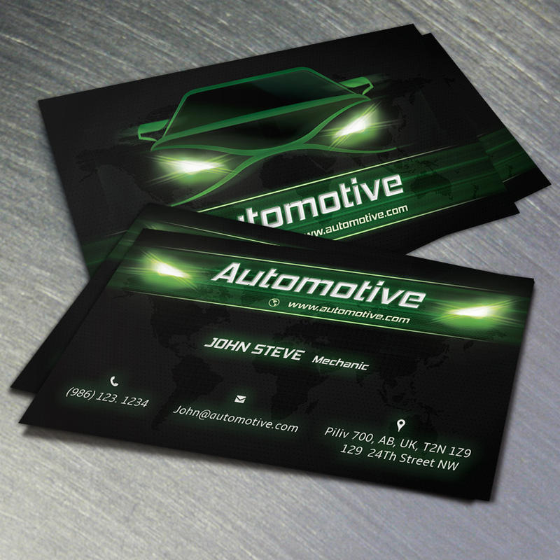 Automotive Business Card Green Color by Oksrider on DeviantArt