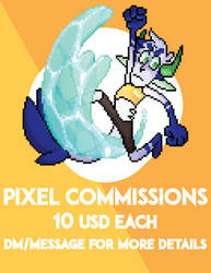 PIXEL COMMISSIONS  |  CLOSED| by King-Blu