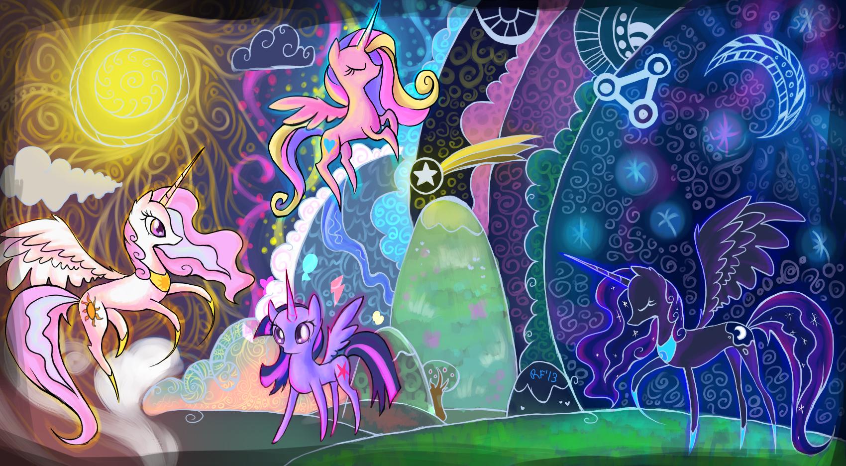 The Legendary Alicorns by Renaifoxi