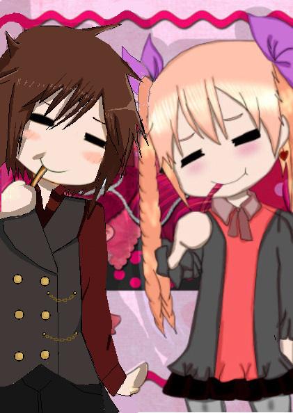 Sebastian and Megumi! 2nd Callob! SQEE! Ft ocs. by Patherlily9113