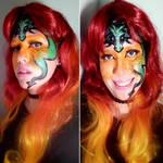 Dragon face painting makeup test!