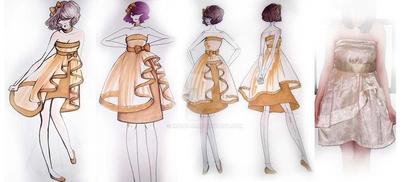 Fashion Design Curtain dress by mai-RAM