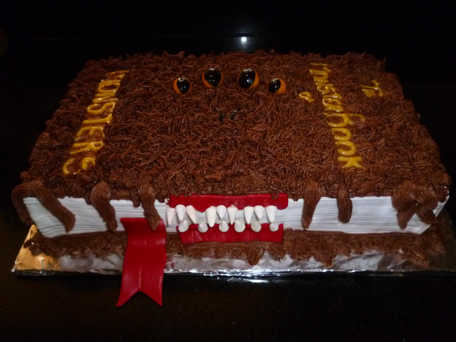 MONSTER book of MONSTERS cake by Marce07