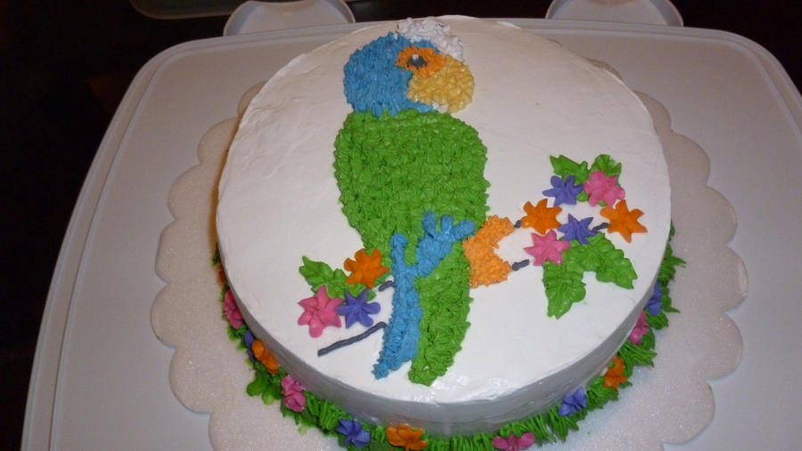 Cute parrot cake by Marce07 on DeviantArt