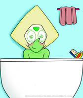 Peridot in the Shower Time by YulizieLove