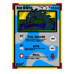 Original Nessie card for Cryptid Fighters