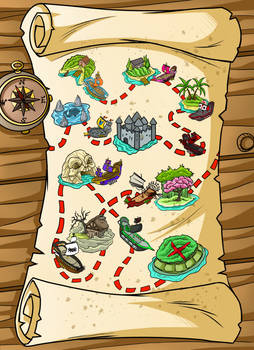 Driftwood Pirates - World Map
