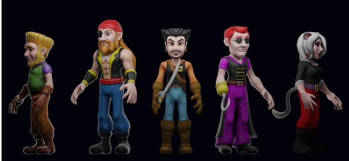 Driftwood Pirates - Game Models