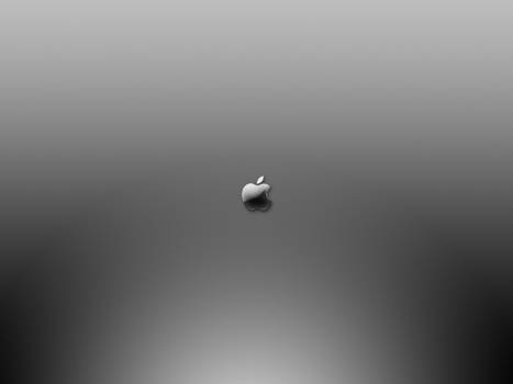 apple on grey gradient