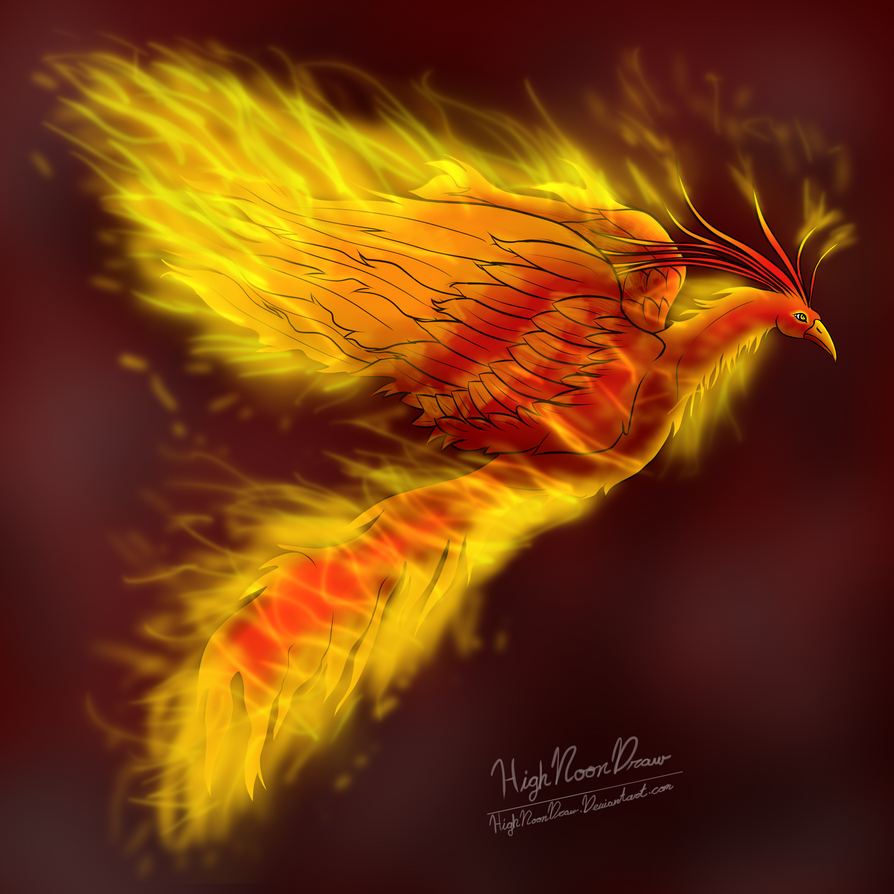 Phoenix (gift art) by HighNoonDraw