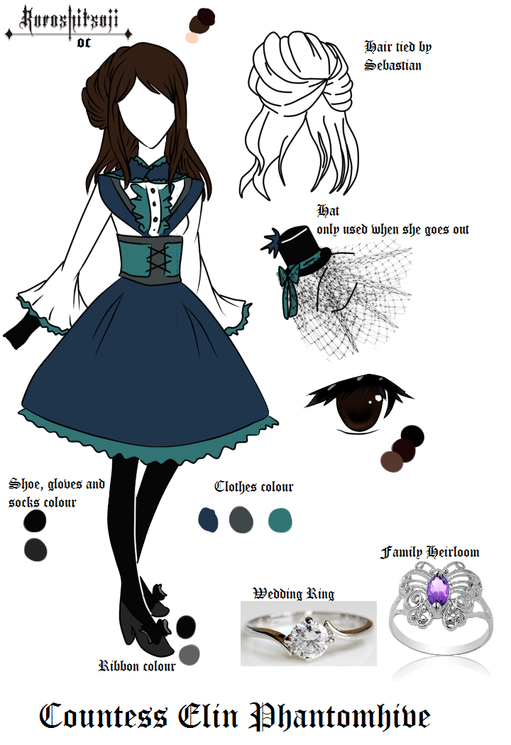 Countess Elin Phantomhive - Kuroshitsuji OC by Purinsesu-Akari