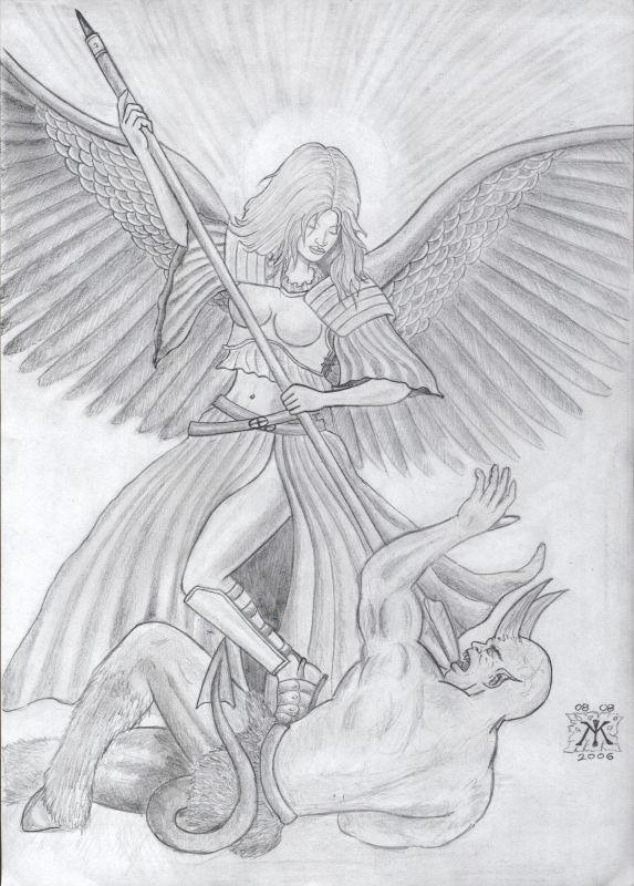 angel and demons drawings - photo #10