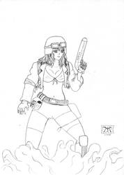space hunter-lineart