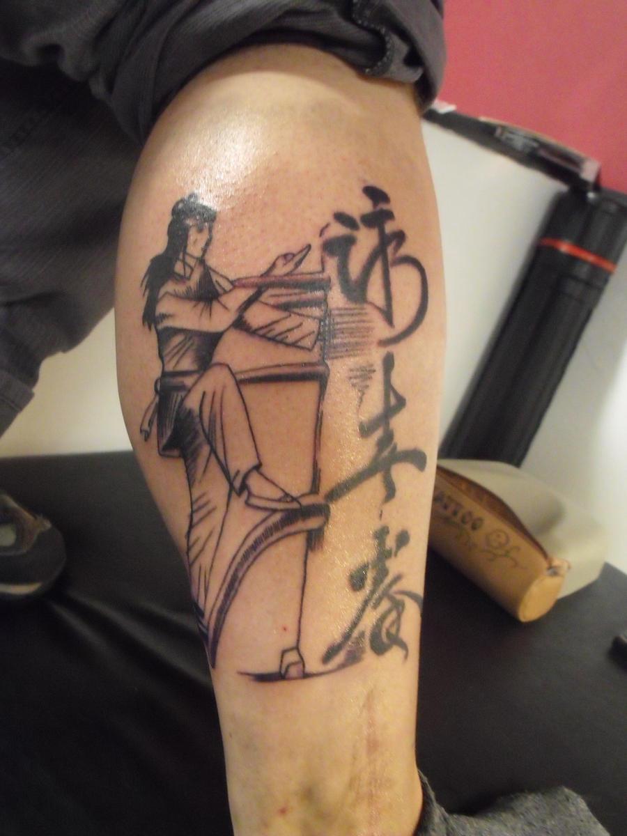 kung fu tattoo by blotsven on deviantart
