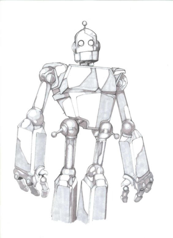 coloring pages iron giant boy - photo#19