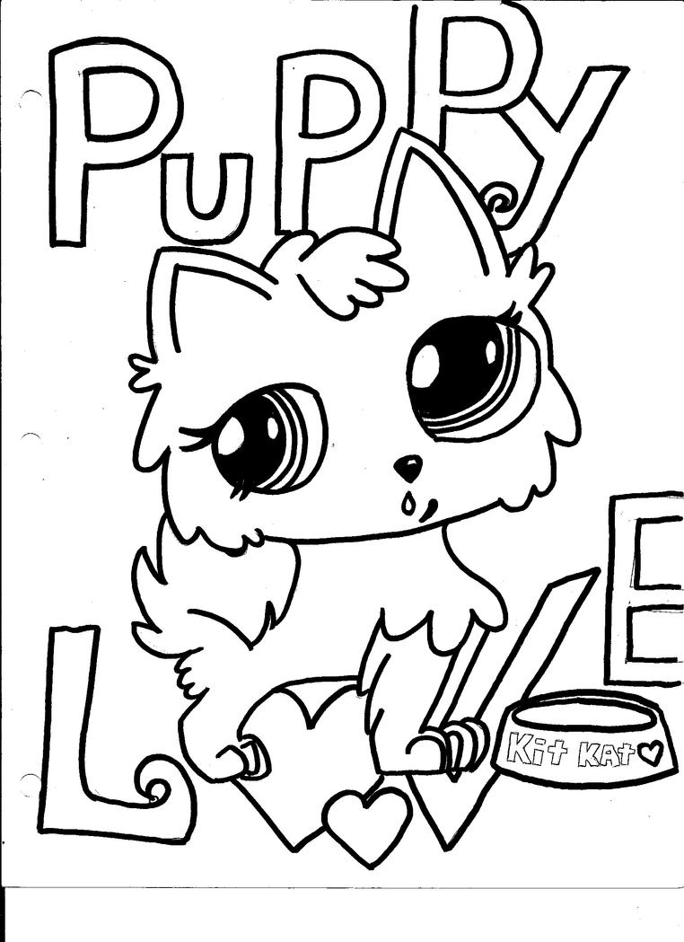 Little pet shop puppy love by yaya0519 on deviantart for Littlest pet shop coloring pages cuties