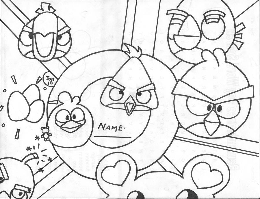 Angry Birds Bubbles Pages Coloring Pages