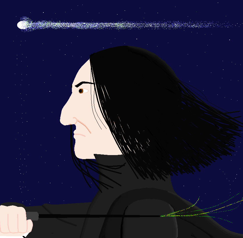 General Art Severus_Snape_on_the_Balcony_by_Nez_Niz92