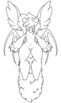 F2U Bat Creature Lineart