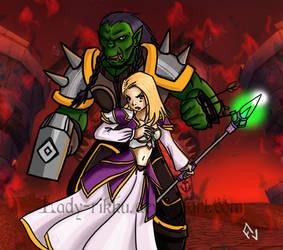 Thrall and Jaina by Lady-Rikku