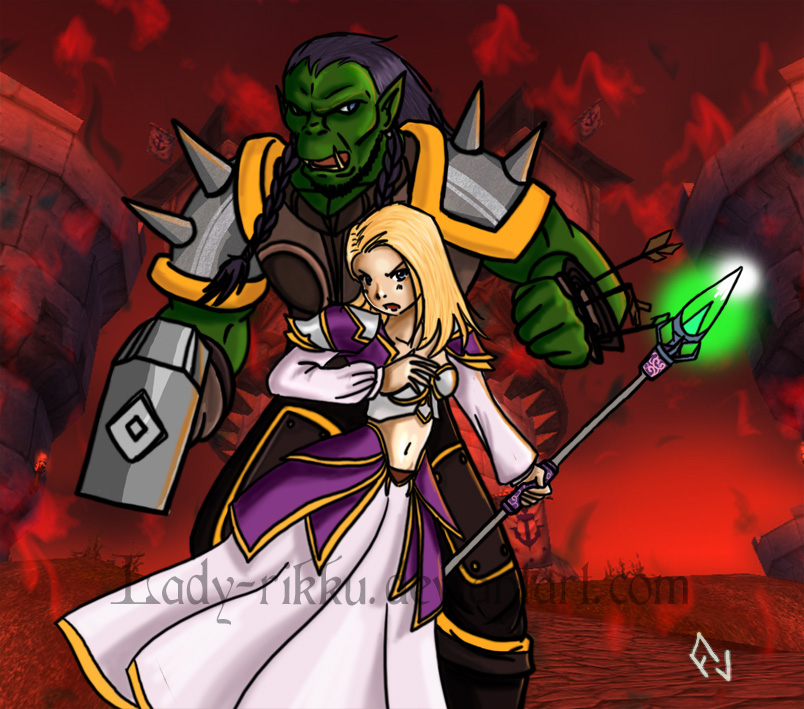 Thrall and Jaina by Lady-Rikku on DeviantArt
