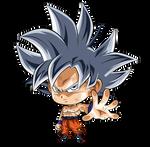 Goku Ultra Instinto Dominado Chibi 1