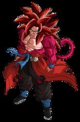 Goku SSJ4 Limit Breaker Render 2