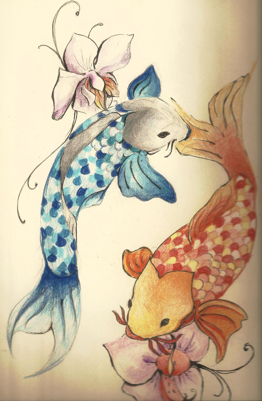 Koi fish tattoo by loiaconos on deviantart for Koi fish pisces