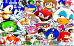 New Wallpaper -Sonic Collage-