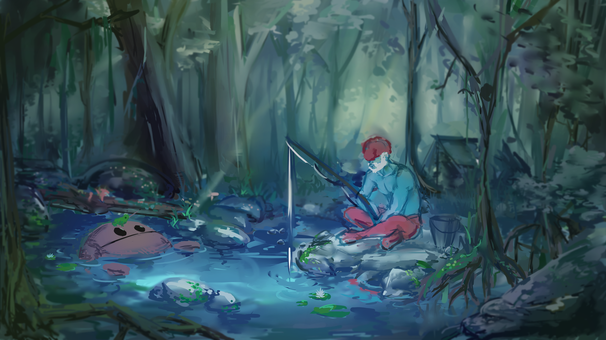 fishing by SFrostWing