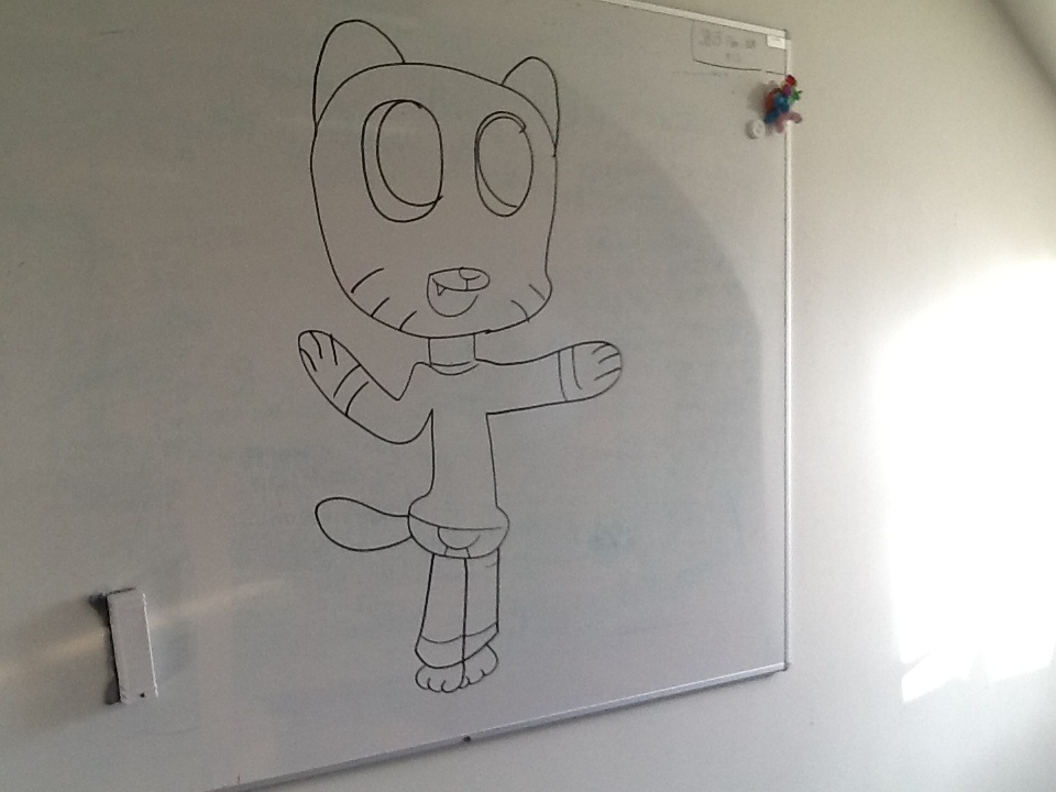 Gumball whiteboard drawing by danishtreats on deviantart for Cool stuff to draw on a whiteboard