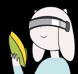 Cyber Toriel with corn