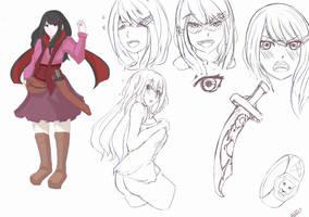 Momokawa Kyou Character-design by kentusrpg