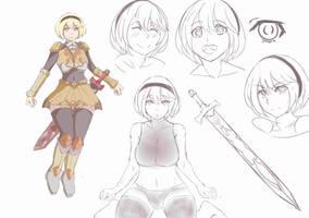Rine (Katarine von Stolzherz) Character-design by kentusrpg