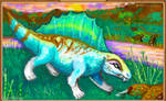 AJ paint: dimetrodon