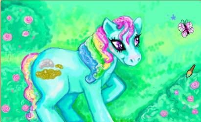 aj paint: sunshine pony
