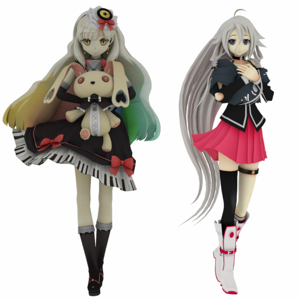 Mayu and IA by Skychii