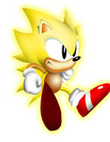 Retro Super Sonic by Thane101