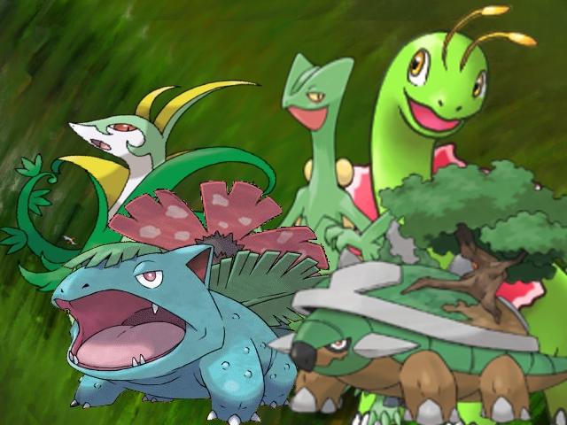 Grass Starter Pokemon Wallpaper pokemon grass types by...