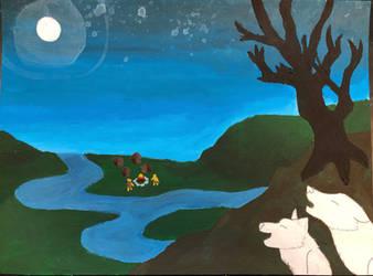 Romanticism Landscape Painting by JazzytheDjinn