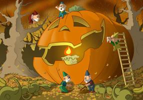 Halloween Preparations by albundyland