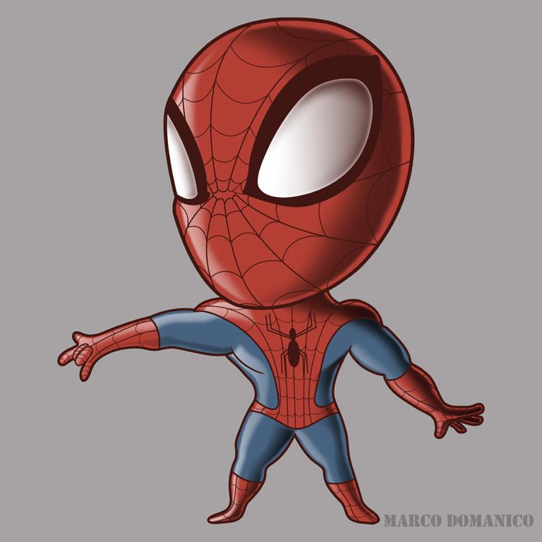 Spiderman Chibi by albundyland