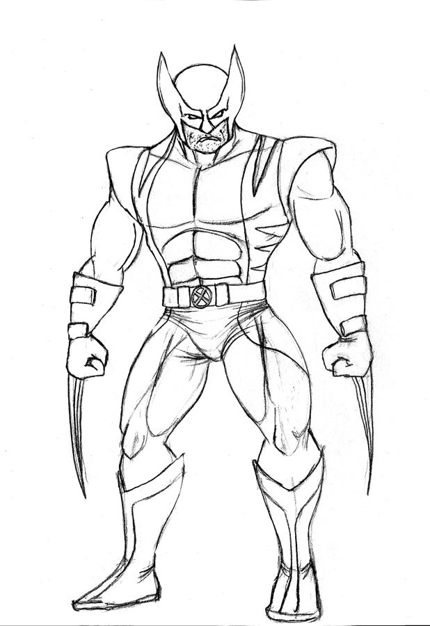 Wolverine sketch by albundyland on deviantart for Wolverine coloring page