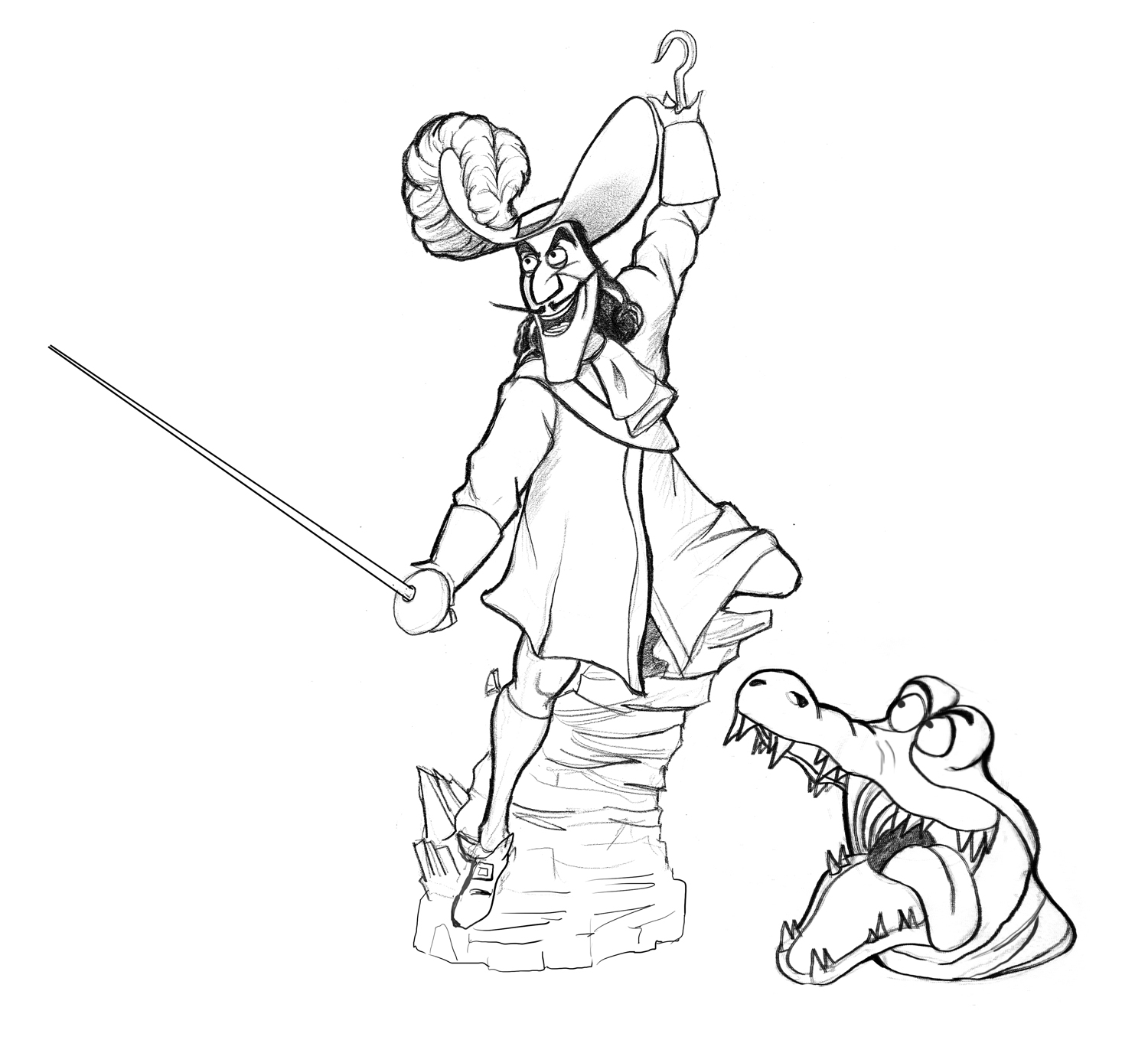 Captain Hook Free Colouring Pages Captain Hook Coloring Pages