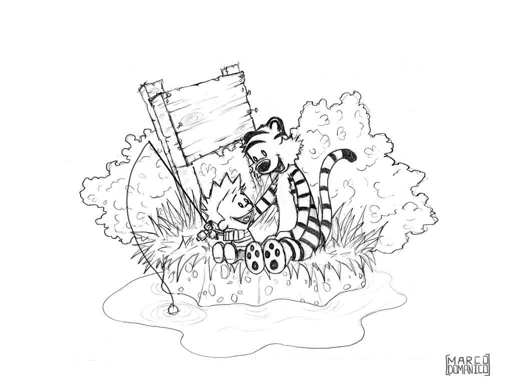 Calvin and Hobbes Sketch by albundyland