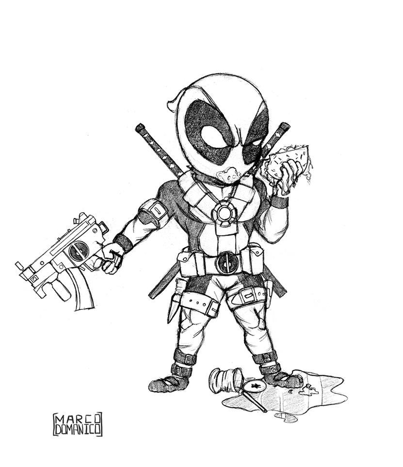 Kid Deadpool Sketch by albundyland